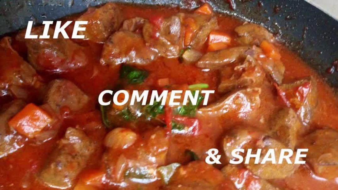how to cook tasty tender liver ugandan cuisine tasty beef liver stew recipe