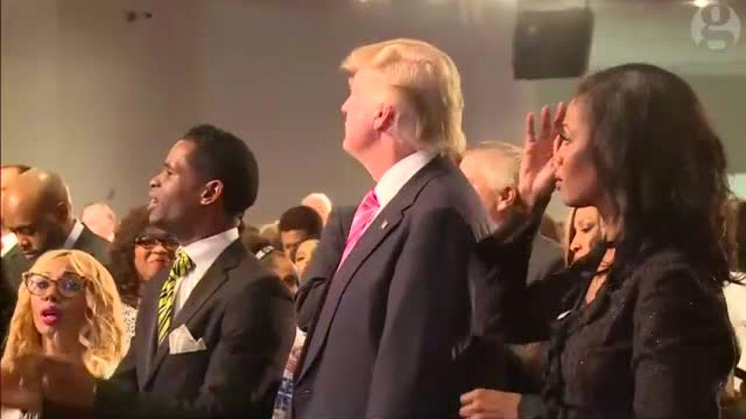 Trump church Service in detroit