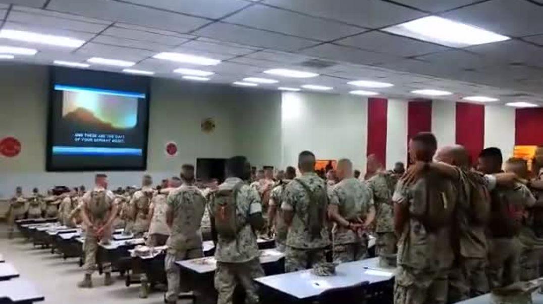 American Marines singing Days of Elijah