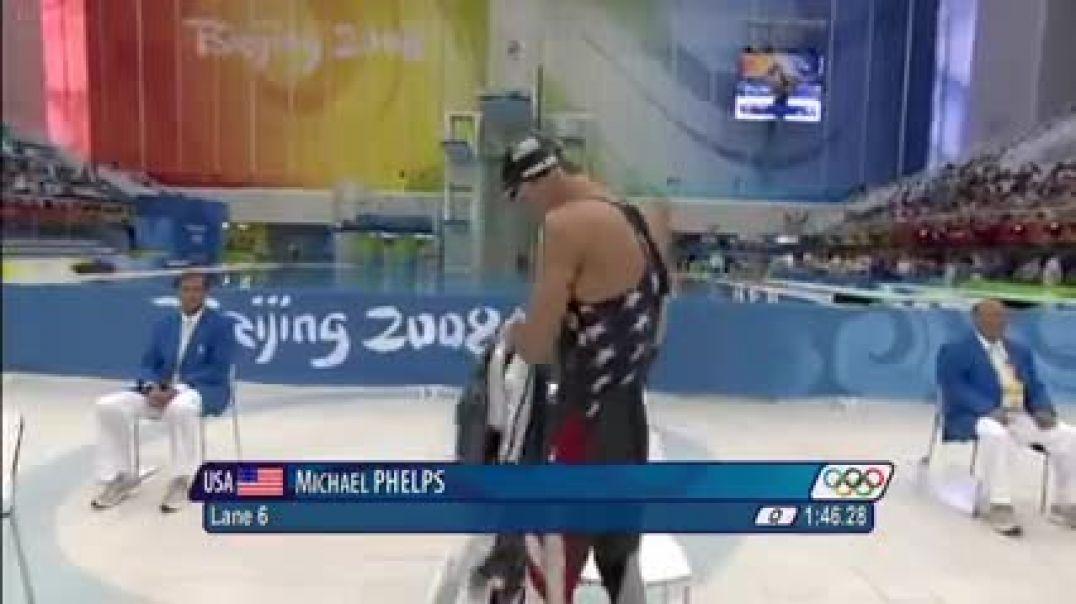 michael phelps breaks 200m freestyle world record beijing 2008 olympics h264 11861