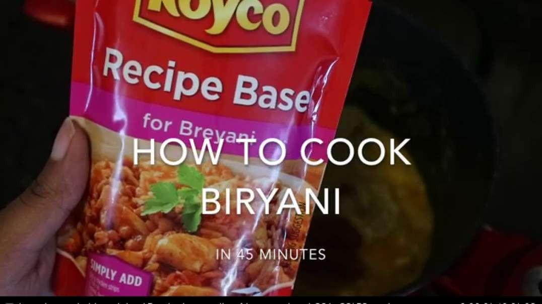 how to cook biryani in 45 minutes south african recipe