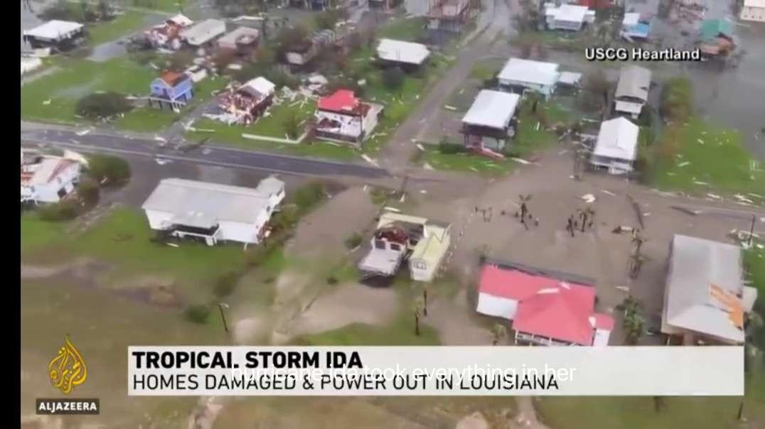 Hurricane Ida weakens to a tropical depression