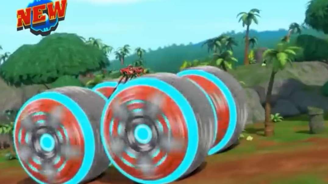 blaze power tires blaze the monster machines transformer into falcon nickelodeon kids games h264 161