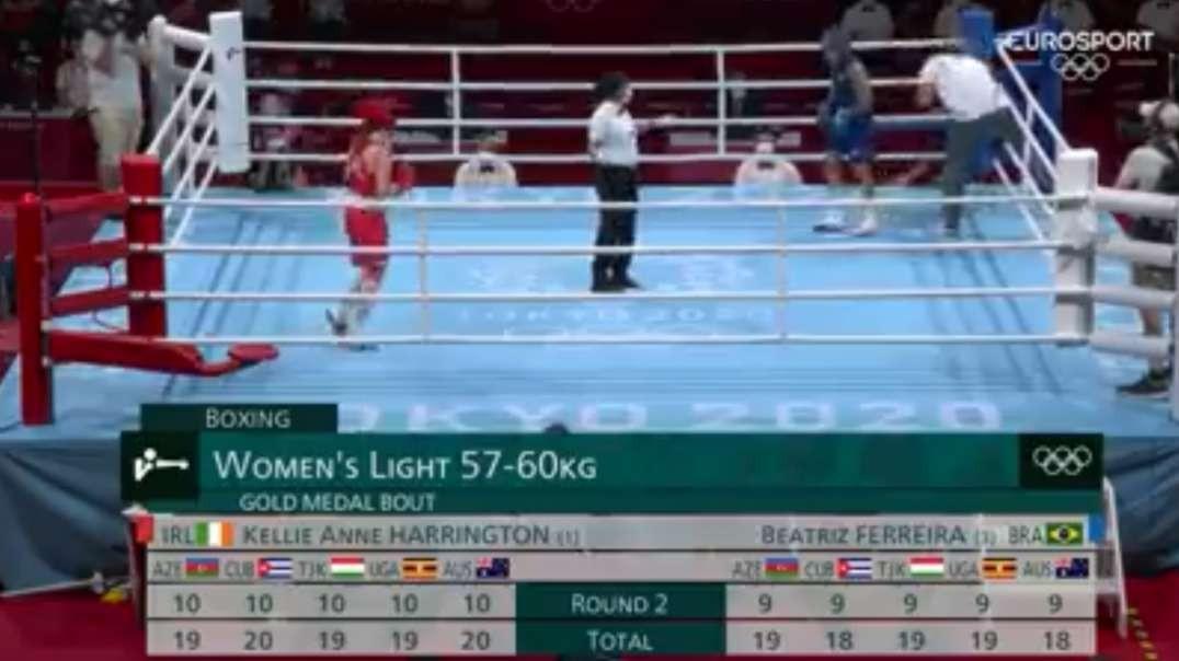 ireland vs brazil boxing women s light 57-60kg final highlights olympic games tokyo 2020