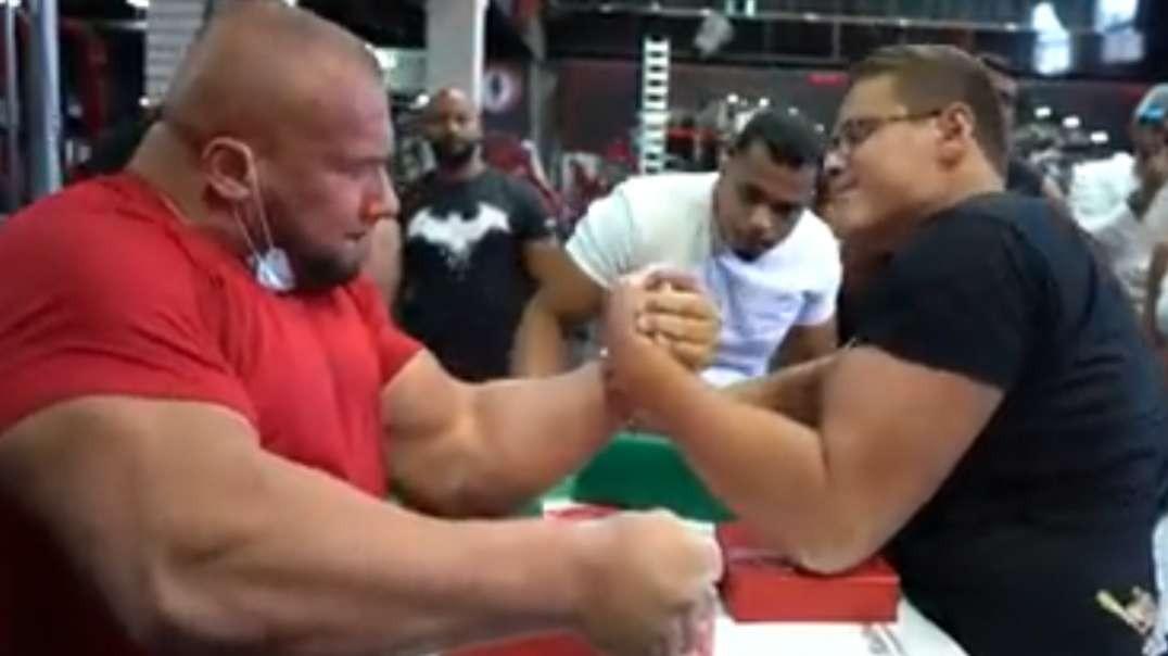 schoolboy vs leonidas arkona arm wrestling 2020