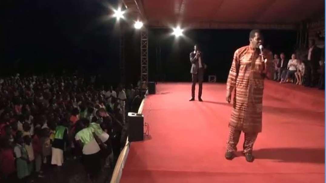 pastor kayanja preaches in kitgumn ahead of irene gleeson walk