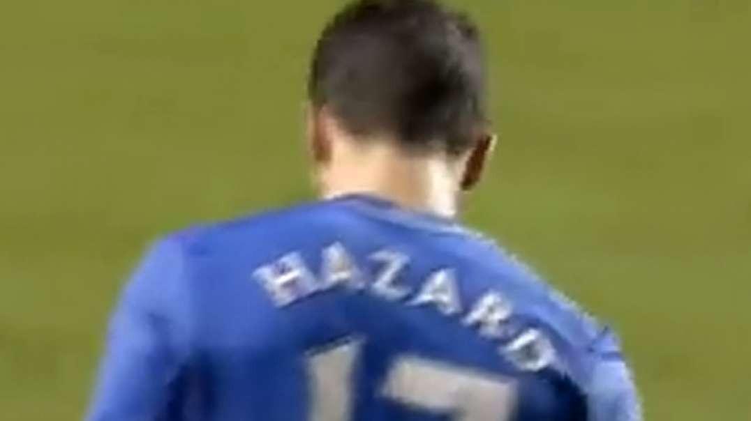 eden hazard kicks ball boy