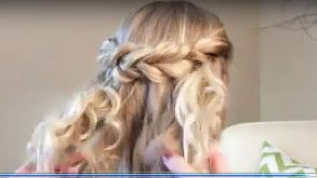 How to decorate a flower girls hair